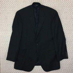 Jos A Bank Men's Black Pinstripe Blazer SZ 42R C65